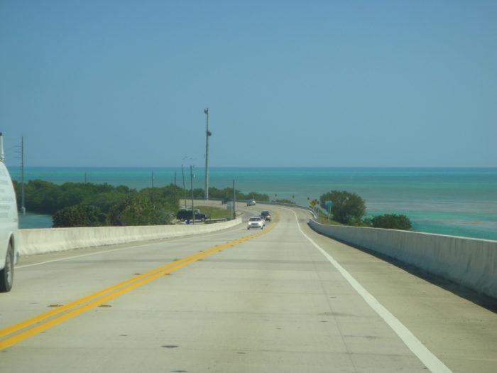 The 113-mile-long Overseas Highway runs from Key West to Key Largo.