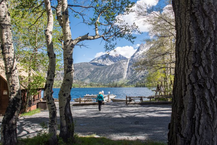 The loop features several places where you can pull off to the side and enjoy the view, like this picnic area at Silver Lake.