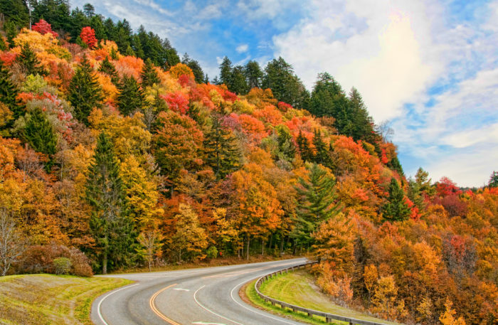 9. We have some lovely scenic byways that come into their own in October.