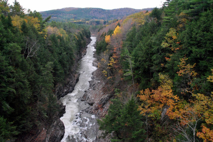 The Quechee Gorge is one of the most popular tourist destinations in Vermont.