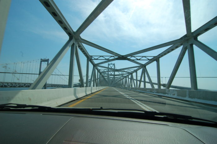 6. And not a single soul on the Bay Bridge.