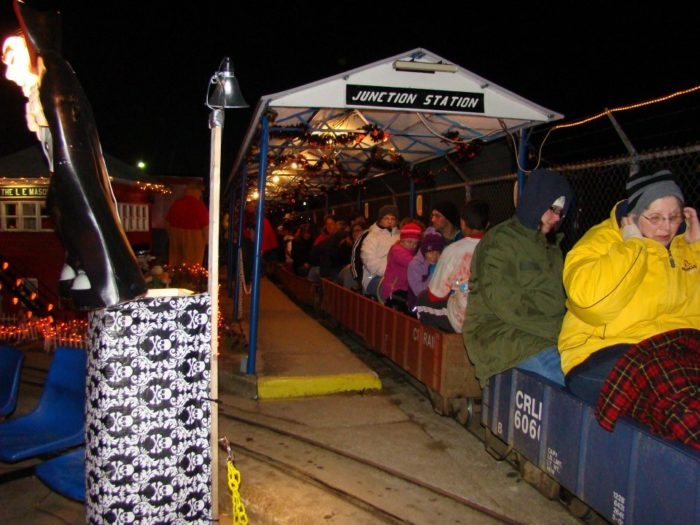 For just ten dollars per person, you and a few friends can hop aboard one of Junction Valley's trains and venture into the spook-tastic unknown after dark.