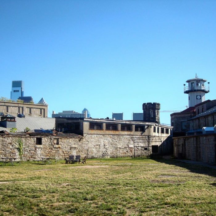 Cross the threshold onto the grounds of Eastern State Penitentiary, a sprawling building set against the sparkling Philadelphia skyline.