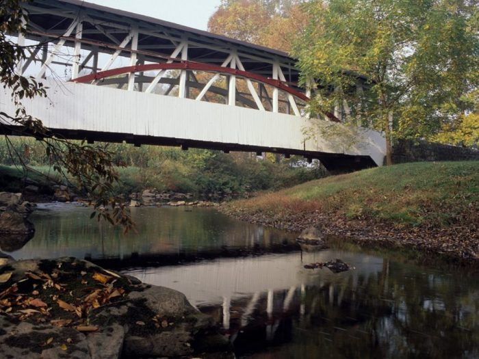 Bedford County offers just as much to see and to do as downtown Bedford. For a rustic autumn adventure, embark on a picturesque tour of the covered bridges of Bedford County. For a free brochure with a map, visit the Bedford County Visitors Bureau or call 1-800-765-3331.