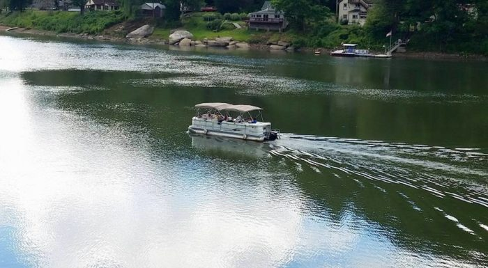 Climb aboard a pontoon boat for a leisurely cruise. One hour, two hour, and fishing trips are available from Foxburg Tours.
