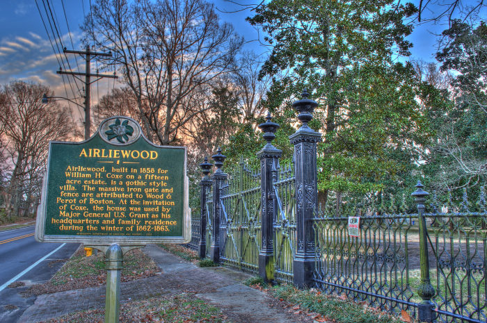 Airliewood was built for William H. Coxe in 1858. While it's not certain, there is a lot of evidence that suggests the well-known architect, Samuel Sloan, designed the mansion.