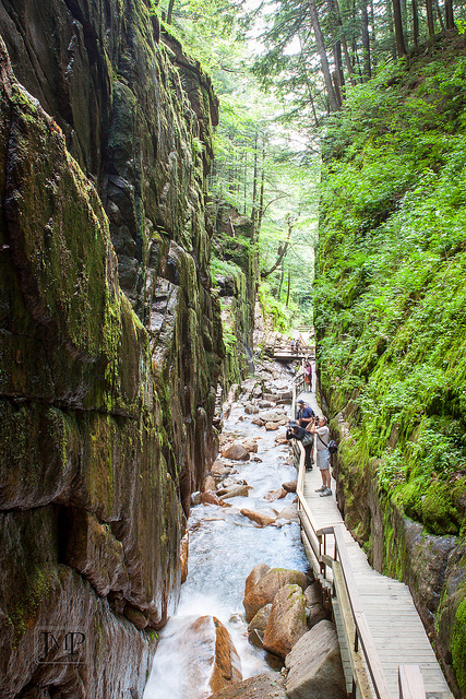 The sides of the narrow gorge are sheer granite extending 90 feet into the air. In some areas the sides of the gorge are just 12 feet apart!