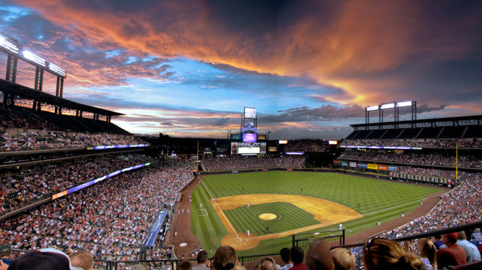 5. Root for the Rockies and watch the sunset from Coors Field.