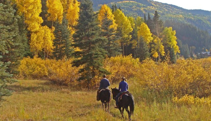 ...and opportunities for horseback riding, hiking, fly fishing, and winter recreation.