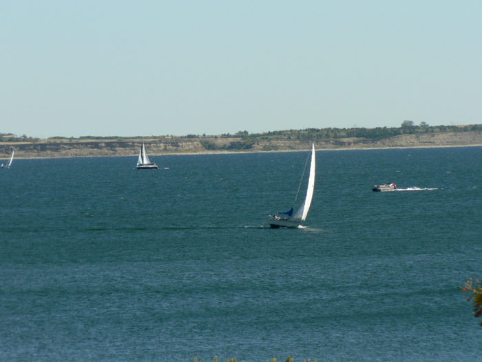 Sailing and boating are very popular here, with a wide expanse of water to take on.