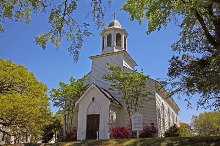 Venture around town and you'll find plenty of quaint churches from yesteryear.