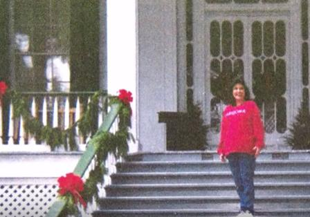 It appears as if ghosts can be seen in the background of photos. Jefferson Davis, his wife, Varina, and daughter, Winnie have all been captured on film. This is just one of the dozens of pictures that has been taken at Beauvoir over the years.