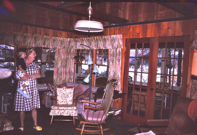 8. This camp on Lake Winnipesaukee shows lakeside fashion in 1975.