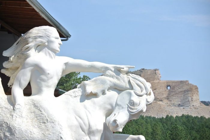 8. The Crazy Horse Memorial, which when completed will be the largest carving in the world.
