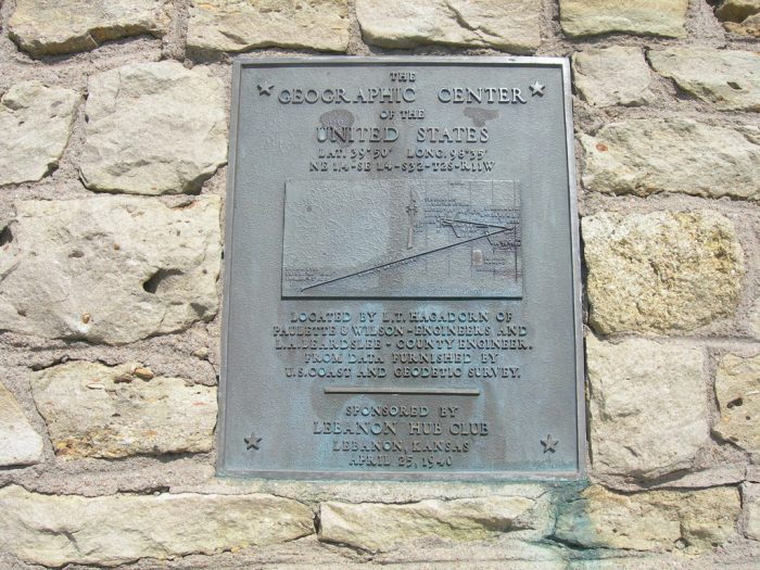 Located a mere 2.6 miles northwest of Lebanon, the geographic center of the contiguous United States is said to be the center of the lower 48, as studied and plotted by the U.S. National Geodetic Survey in the early 1900s.
