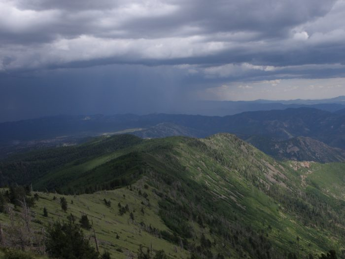 Scaling the peak of Whitewater Baldy involves a 24-mile round trip hike – several days of high country hiking. Here's the view from the top.