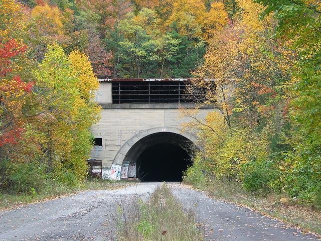 9.  Abandoned Pennsylvania Turnpike