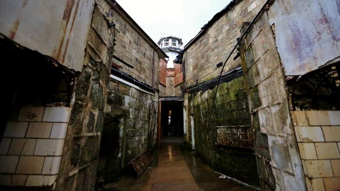 Whispers and footsteps. Painful cries when no one's there. Shadows flickering on prison walls. Apparitions of former prisoners and even an apparition of a guard high above in the now-dormant guard tower.