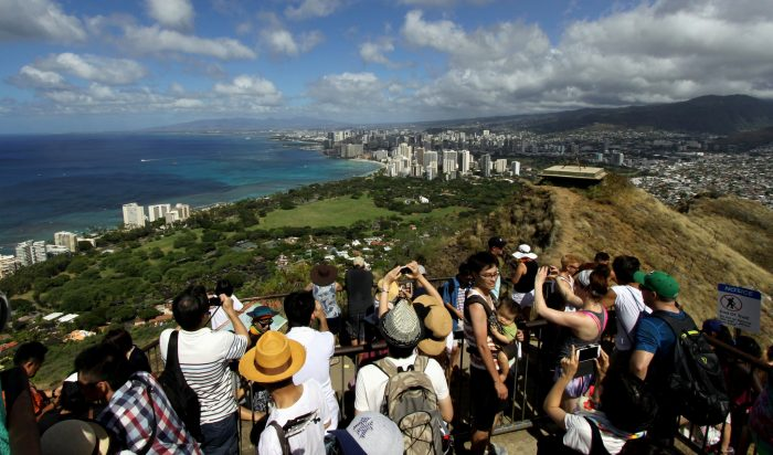 9. The chickens are outnumbered only by tourists - especially at Diamond Head.