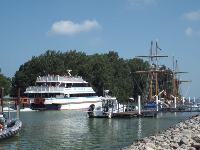 During the summer months, it's bustling with tourists passing through on their way to the Lake Erie Islands. Ferries are a common sight to see near the shore.