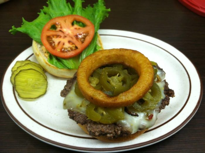 Other great menu items are served at this cafe, including burgers and other delicious options.