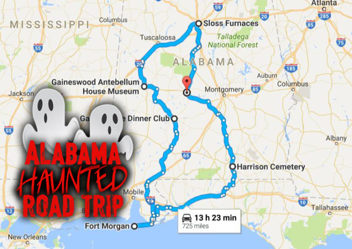 AL Haunted Road Trip