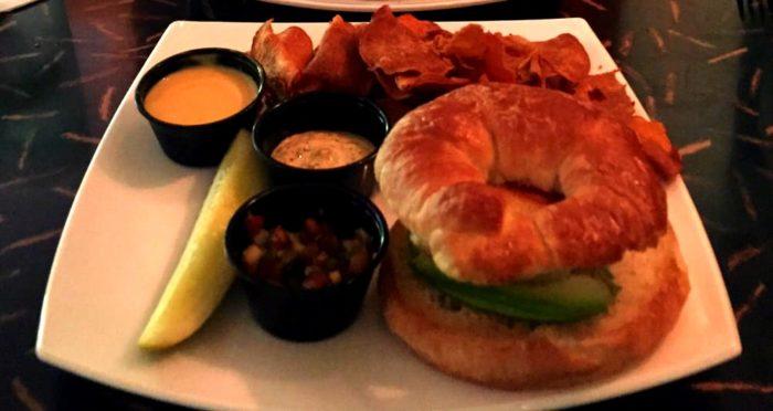 1. Crab Cake & Avocado Sandwich