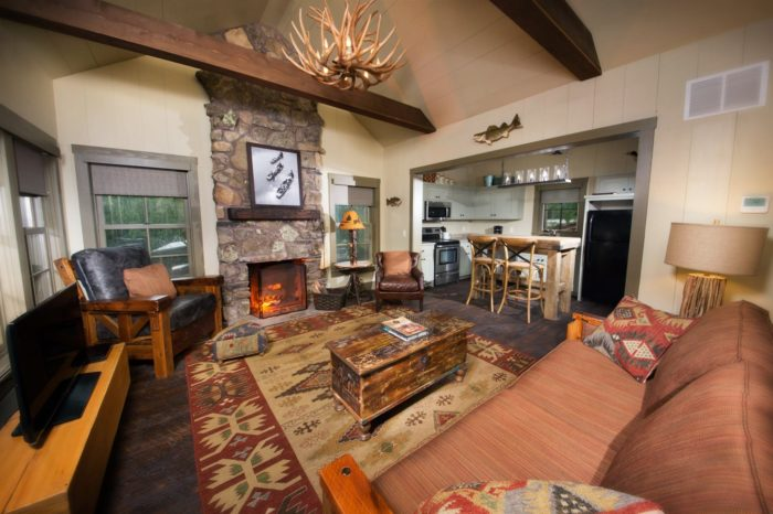 Spend the night in a private cabin or cottage or in the luxurious lodge.