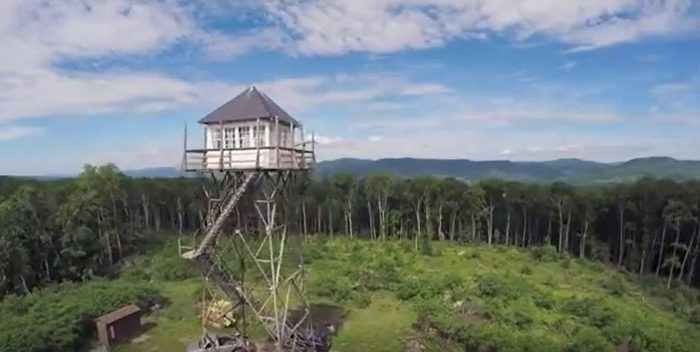 The fire tower is available through October.