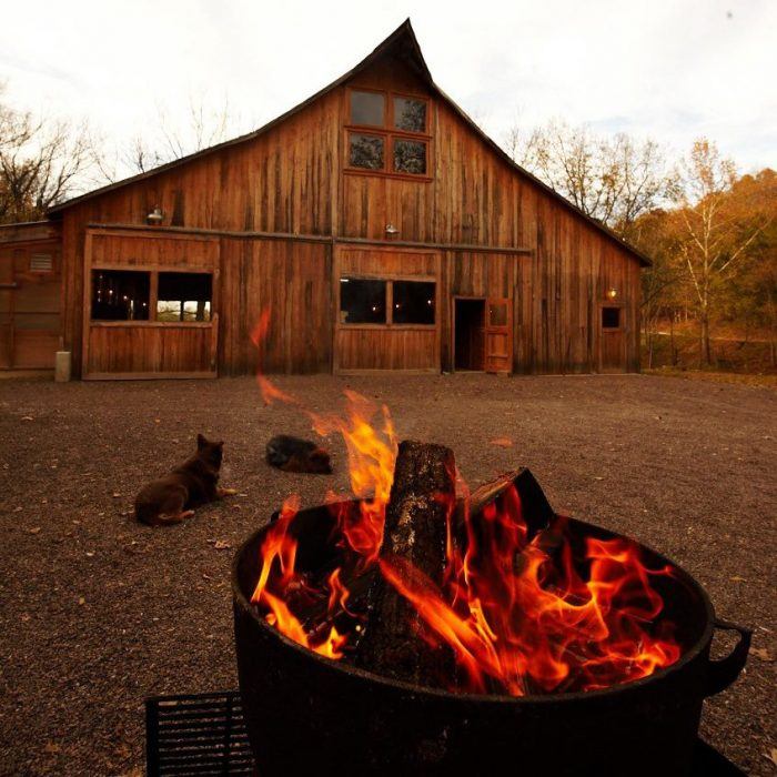 Guests who've made reservations get to dine in the cozy 100-year-old renovated barn.
