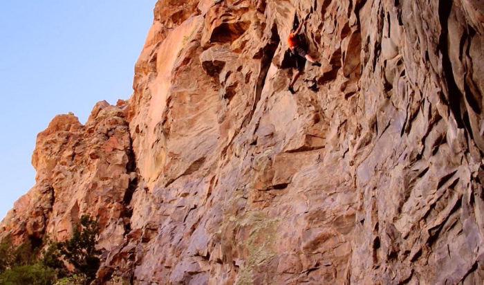 You'll occasionally spy a climber traversing these rocky walls.
