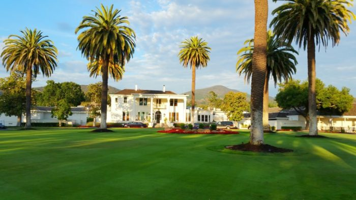 The front entrance of the Silverado Resort. This is a place designed to ensure the perfect Napa Valley Wine Country.