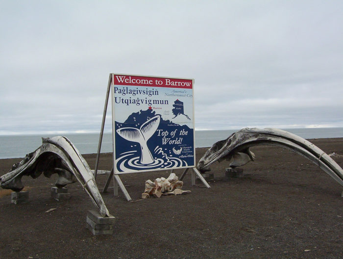 Located 320 miles north of the Arctic Circle is the tiny town of Barrow, Alaska.