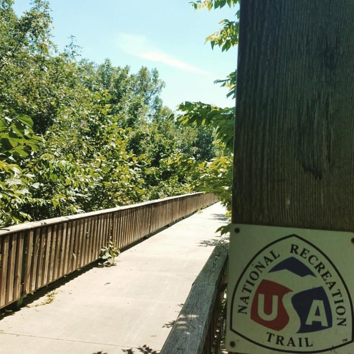 The Frisco Highline is a proud member of the United States' nationally registered recreation trails.
