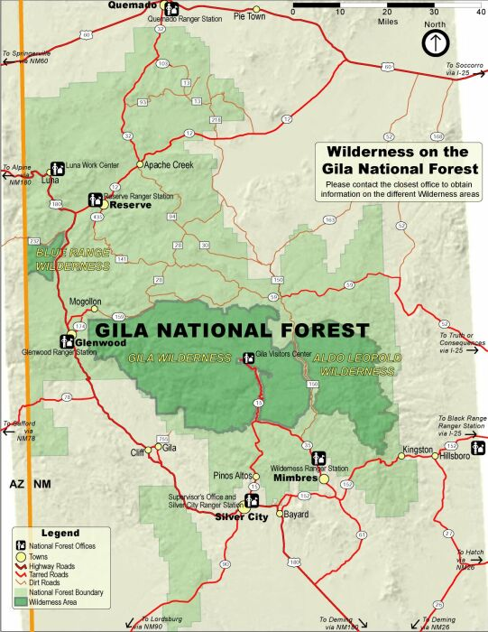 The Gila Wilderness spans 559,040 acres. It encompasses rivers, creeks, mesas, canyons, mountains, and 13th century cliff dwellings.