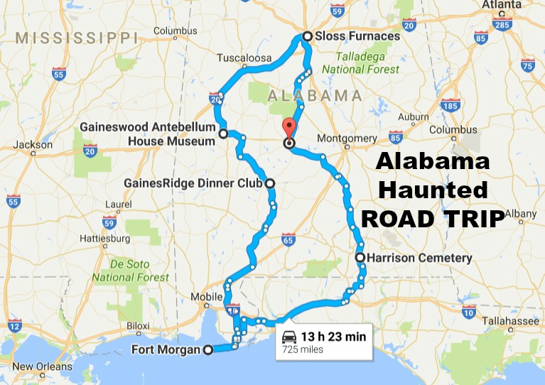 Take This Haunted Road Trip To The Scariest Places In Alabama