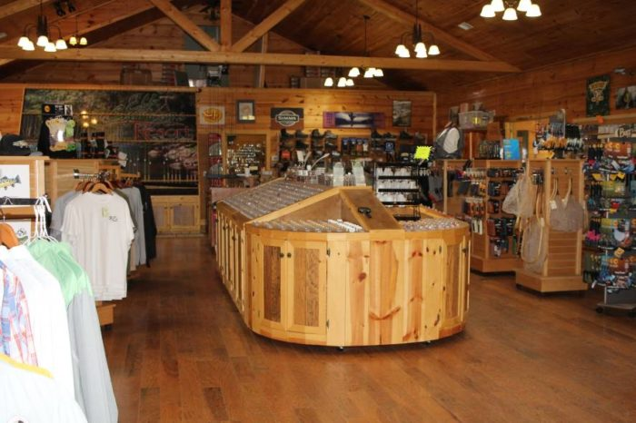 The resort has the largest fly shop in the state.