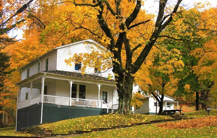 In Cass, you'll stay overnight in one of the historic company houses in the town.