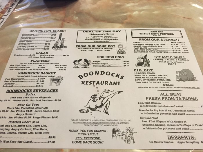 Next time you're looking for a great place to eat, go a little off the beaten path to find Boondocks.