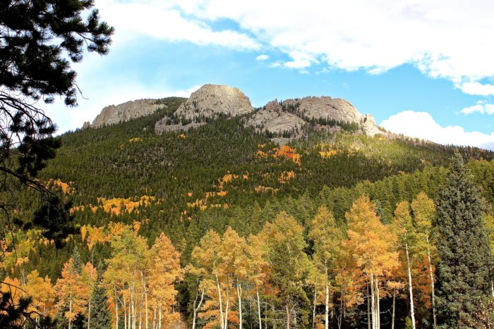 You'll enjoy spectacular views of aspen-studded slopes with brilliant patches of orange and gold.