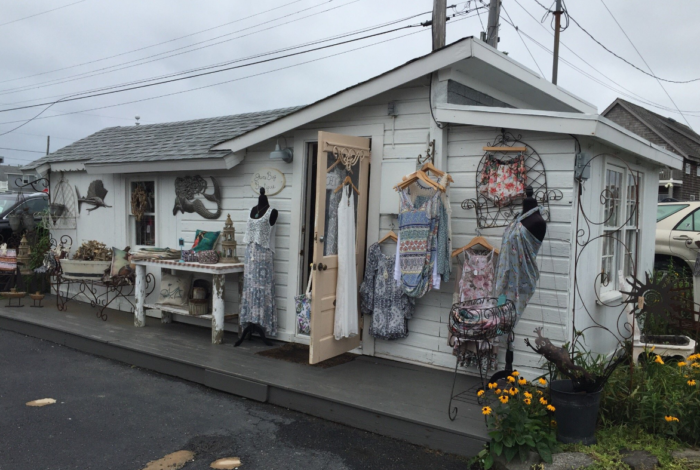 Each shop is so unique! June Bug offers fashion, art, jewelry and gifts. The Seawife sells antiques out of a restored 1890s schoolhouse.