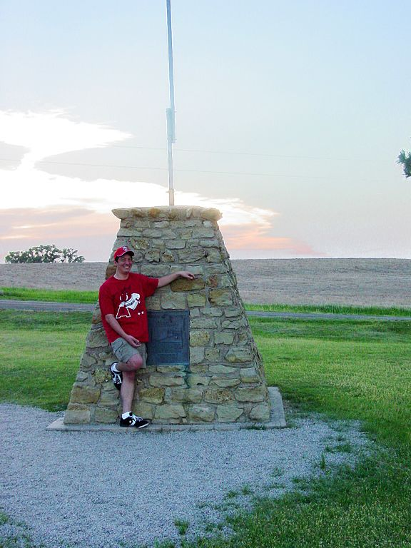 Since the actual geographic center is located on private farmland, its limestone marker was intentionally placed nearly a half mile away in 1940.