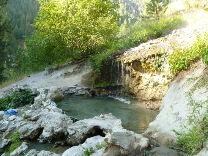 Idaho hot springs trail