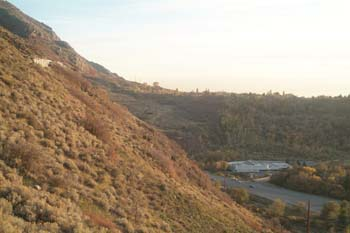 Here's a view overlooking Ogden Canyon, from one of the most northern parts of the completed trail.