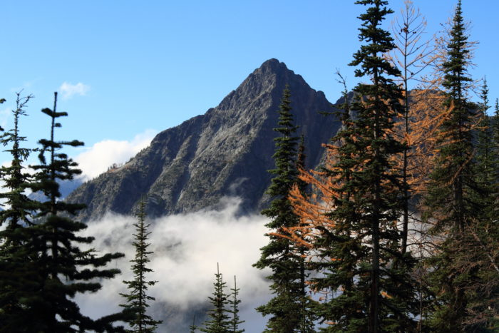 Stop at the North Cascades National Park and take in the beauty of the changing colors.