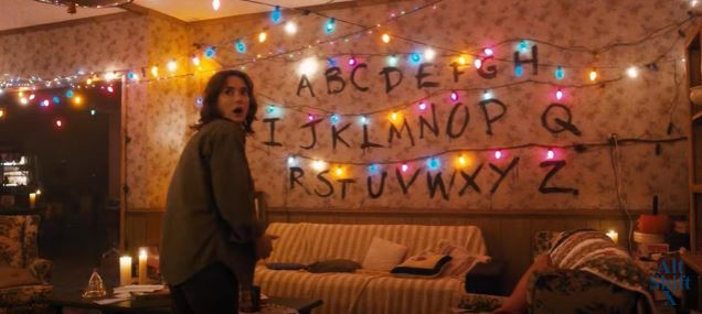 stranger things themed halloween house in nebraska is a must see. Black Bedroom Furniture Sets. Home Design Ideas