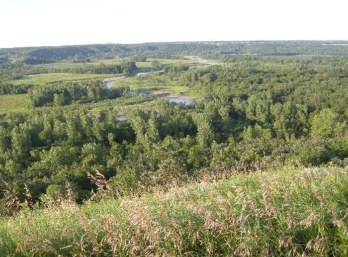 And when you're not relaxing inside, you can take a stroll out through the breathtaking Pembina Gorge and immerse yourself in the quiet nature.