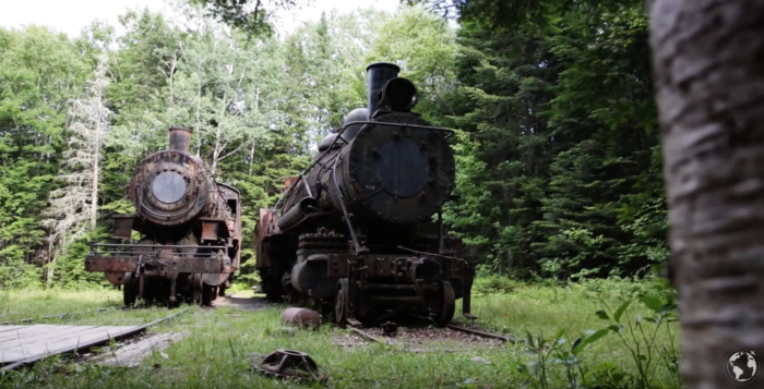 The old locomotives are massive. It's easy to imagine how impressive they were in their prime.