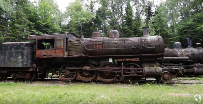 Most of the locomotives are over 100 years old. They were abandoned during the Great Depression.