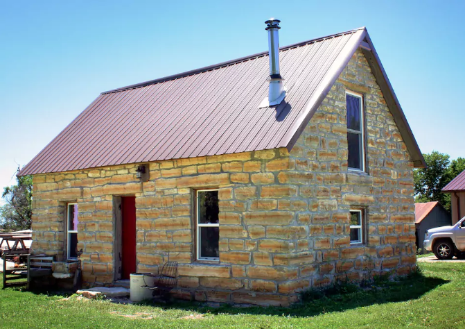 4. Historic Limestone Cabin (Ellsworth)